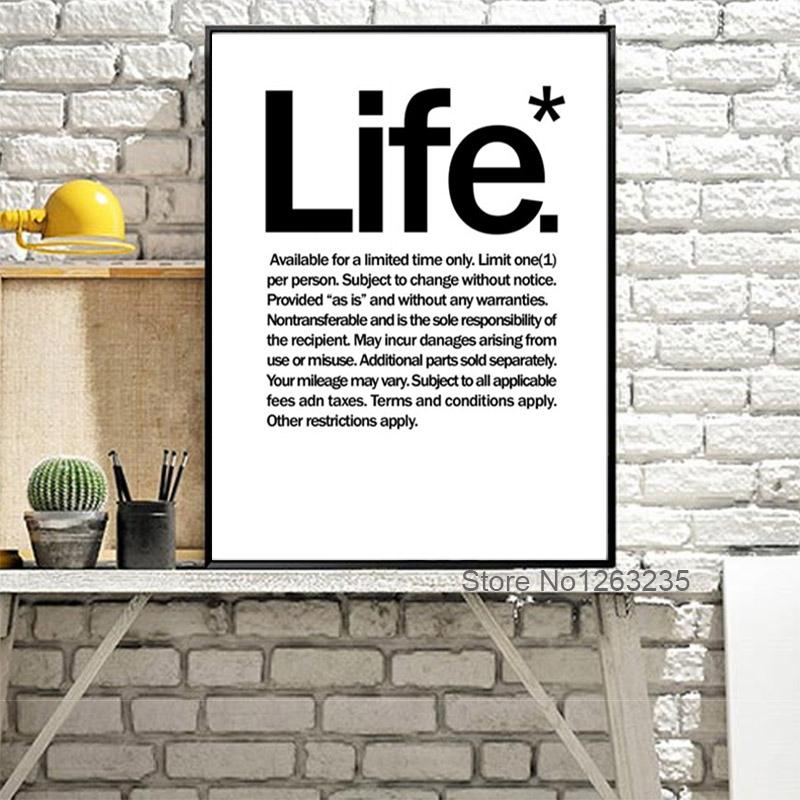 Cuadros Nordic Decoration Posters And Prints The Life Wall Art ...