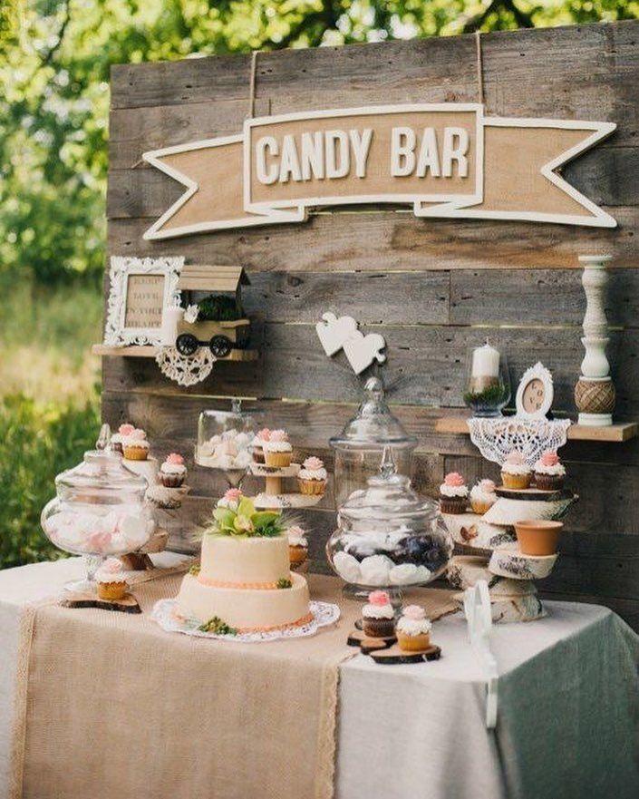 Wedding Dessert Table Backdrop: Hochzeitsdeko, Vintage