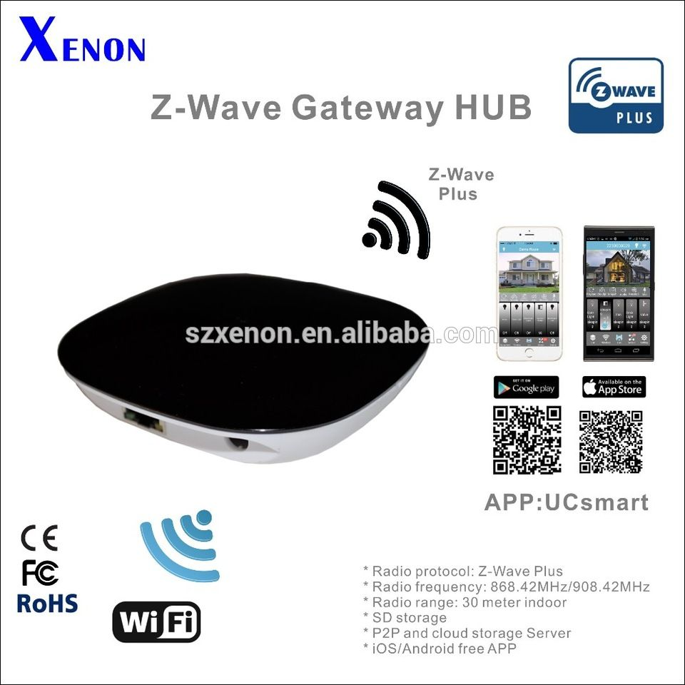 Zwave home automation gateway, comply with Z-wave, Bluetooth, Zigbee ...