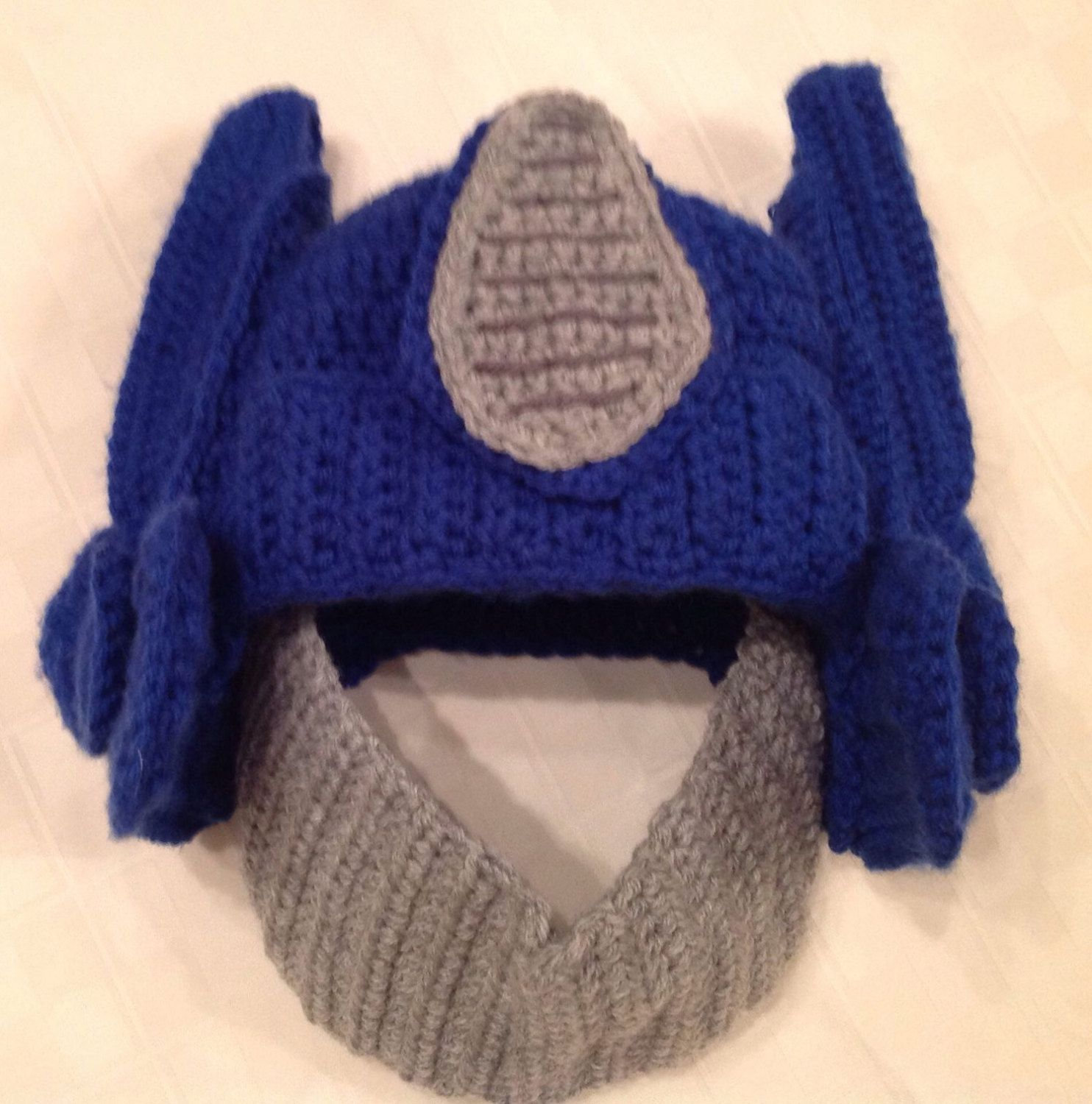 Pattern For Crocheted Robot Hat Inspired By Transformers Optimus