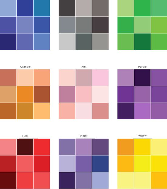 This Color Variation Sheet From Creating Keepsakes Can Help You To Select Colours Use On Monochromatic Pages I Think It Would Also Come In Very Useful