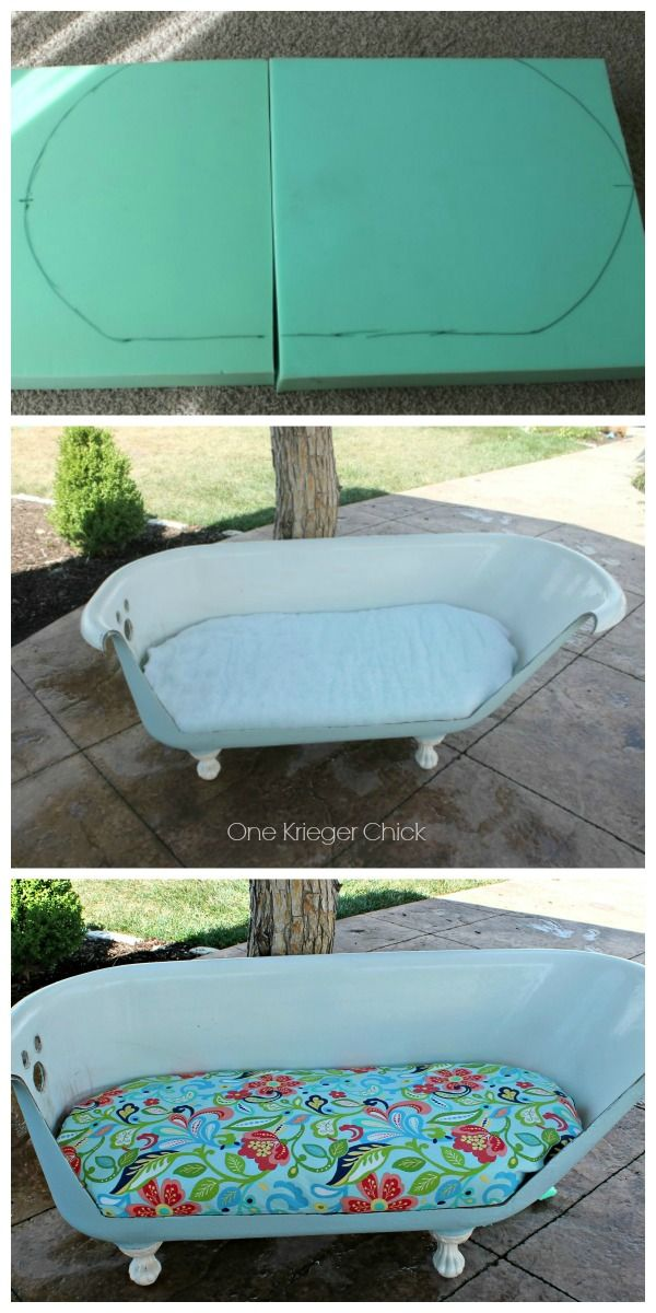 Cast Iron Bathtub to Outdoor Sofa {part 2 | Cast iron bathtub ...