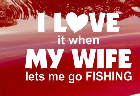 I Love Fishing Car Van Motor Home PC Laptop Ipad Decal Vinyl Sticker