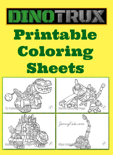 Dinotrux Printable Coloring Sheets Brayden Pinterest Colores