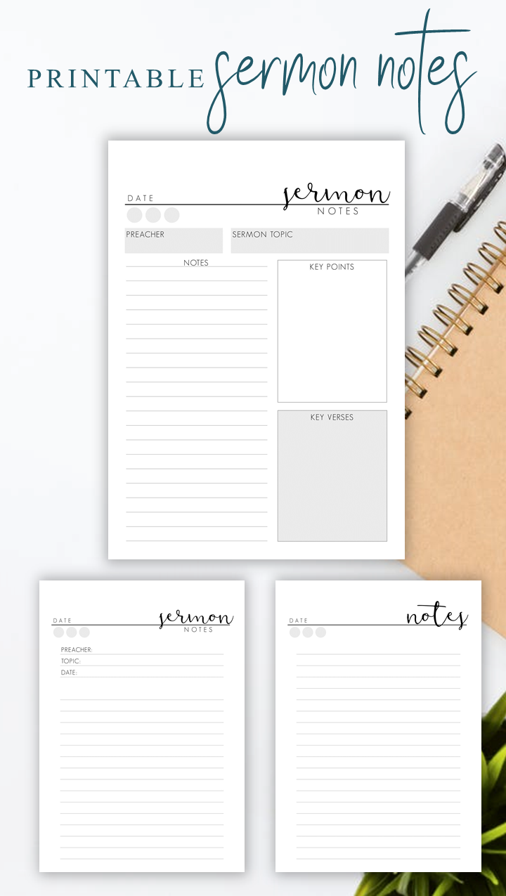 Stylish And Easy Note Taking Click Here For More Sermon Notes Printable Sermon Journal Pages Printabl Sermon Notes Bible Study Notes Bible Study Notebook