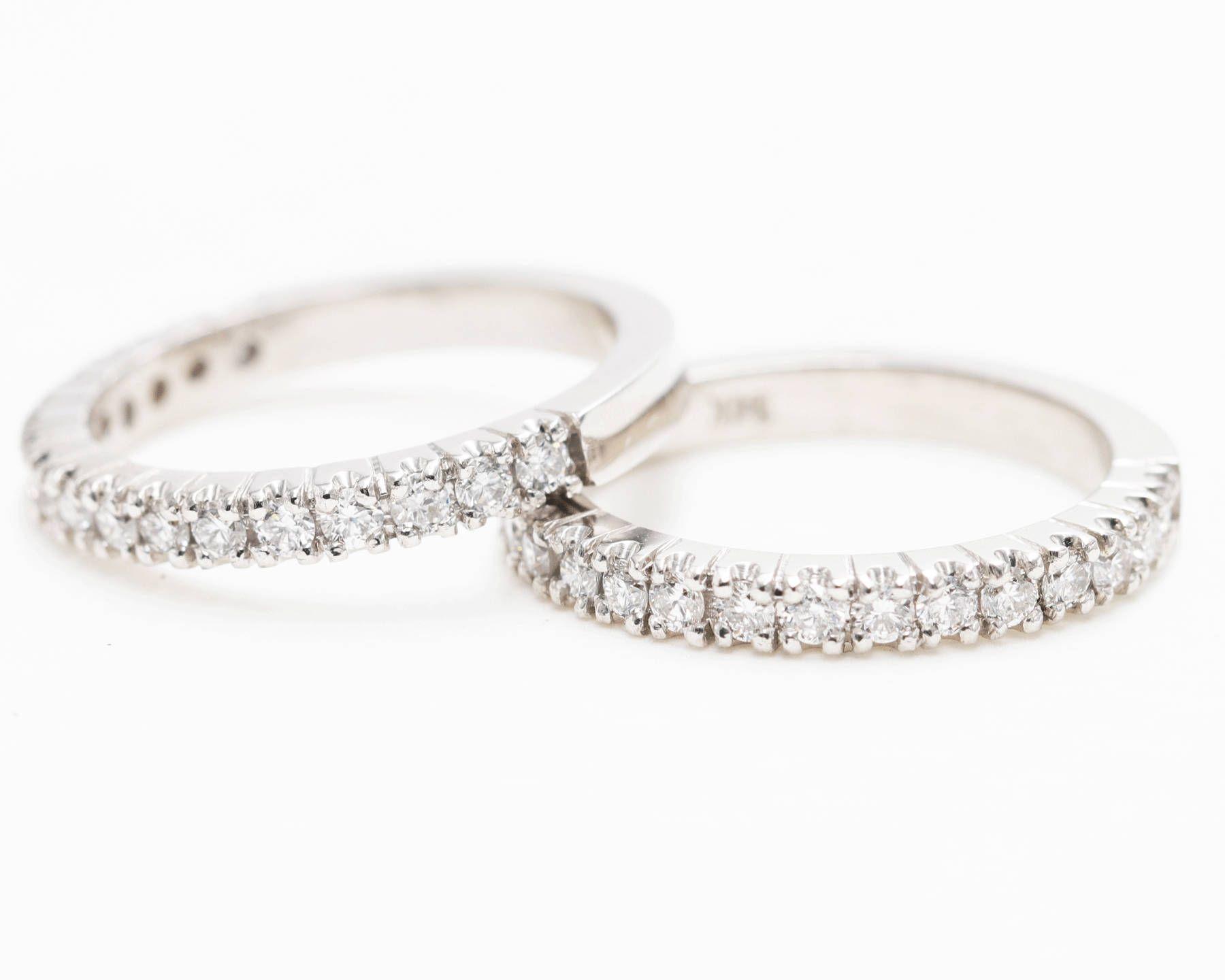 High Quality Diamond Double Row Wedding Band Engagement Ring Etsy Diamond Wedding Bands Quality Diamonds Diamond Bands