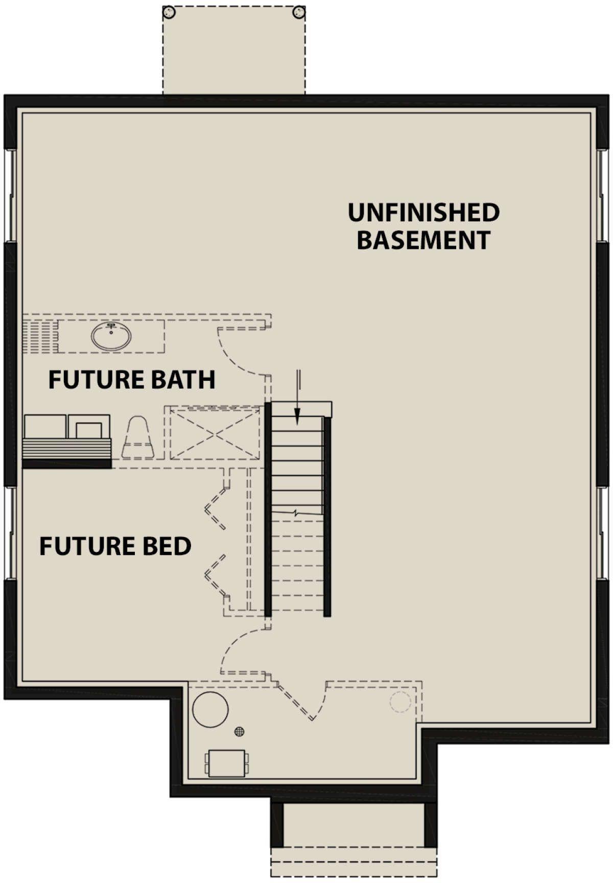 Modern Plan: 1,266 Square Feet, 2 Bedrooms, 1 Bathroom - 034-01152
