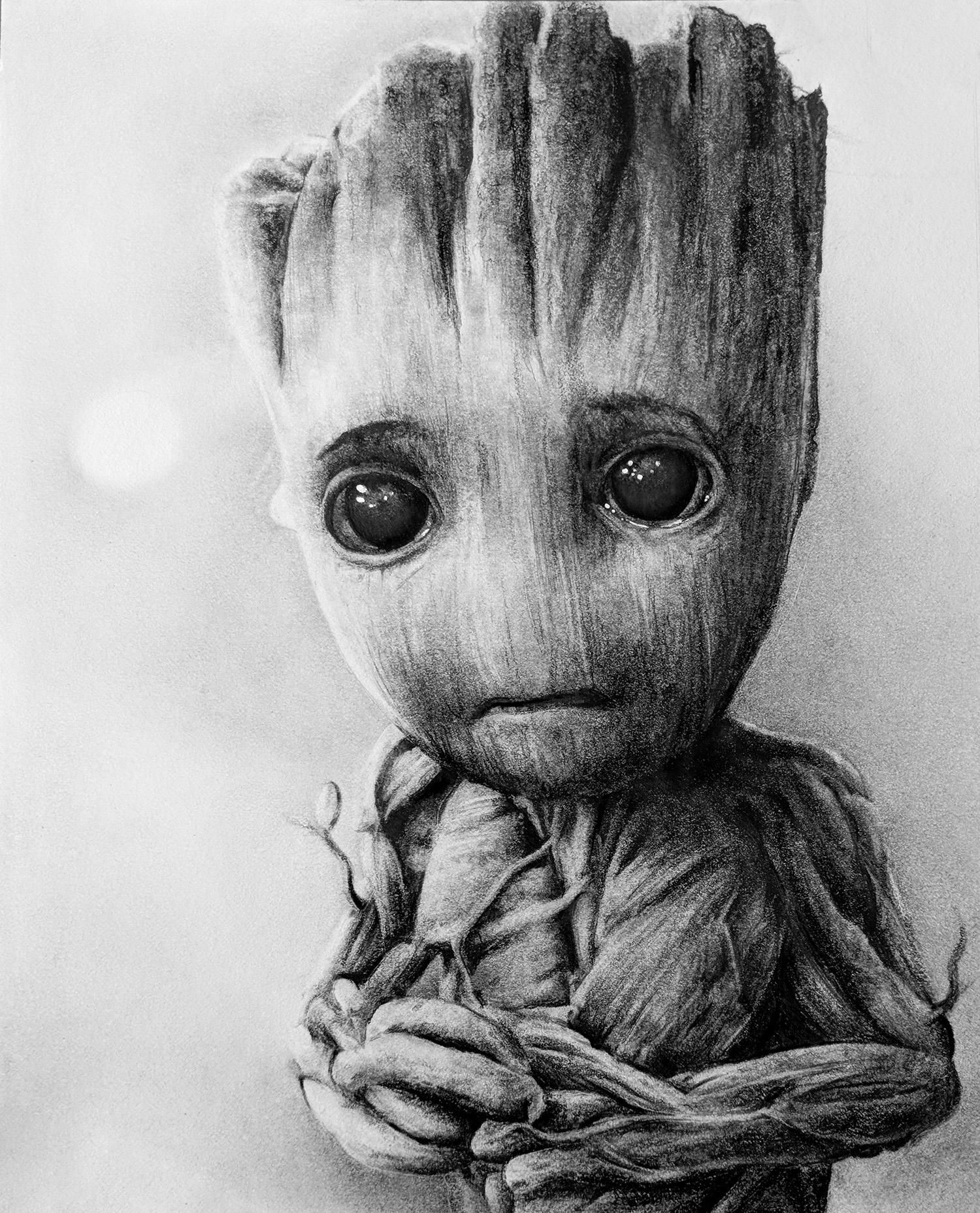 my baby groot - pencil illustration https://ift.tt/2k3JPSS ...