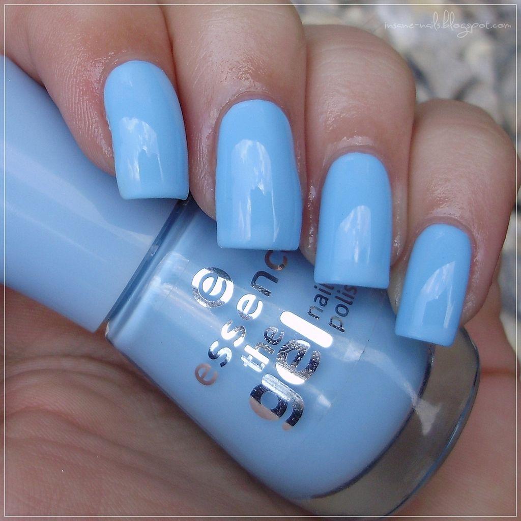 Nails inc gel nail colors and gel nail polish on pinterest - Insanenails Essence The Gel Nail Polish 39 Blue Bubble Di Blue