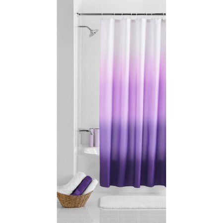 Mainstays Ombre 70 Inch X 72 Inch Polyester Shower Curtain Multicolor Ombre Shower Curtain Shower Curtains Walmart Fabric Shower Curtains