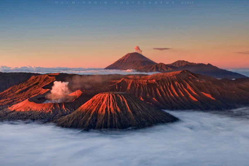 Tengger Bromo Semeru Indonesia Pemandangan Java