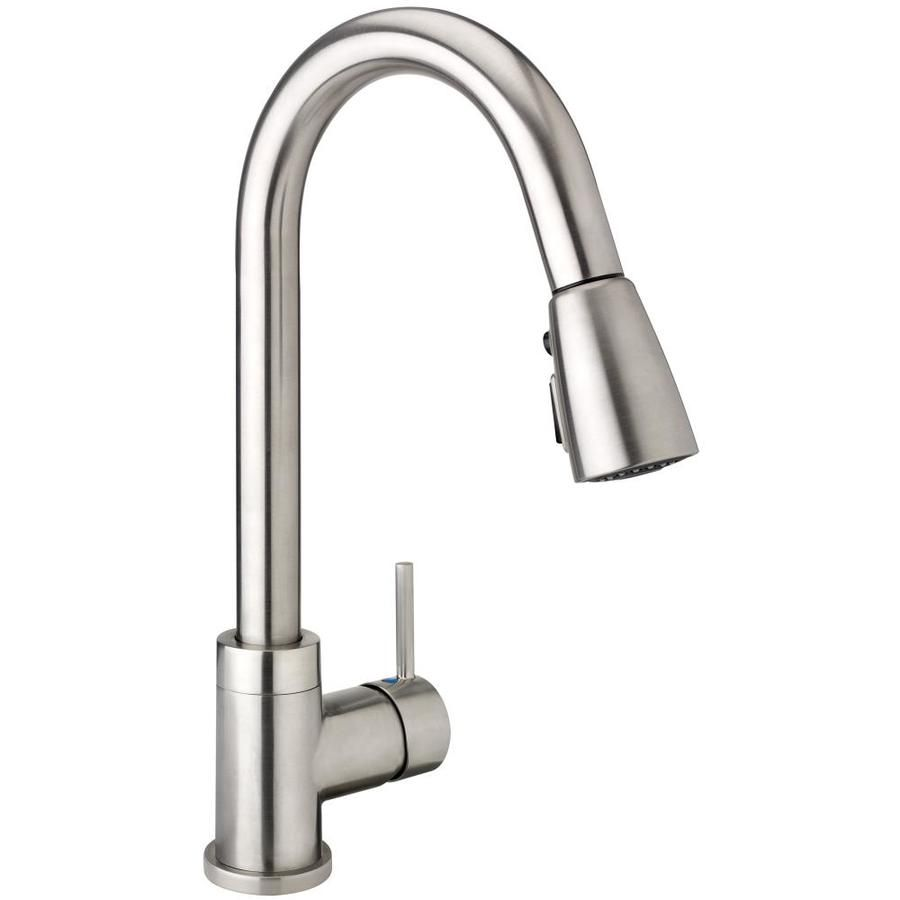 Keeney Urbania Brushed Nickel 1 Handle Pull Down Kitchen Faucet
