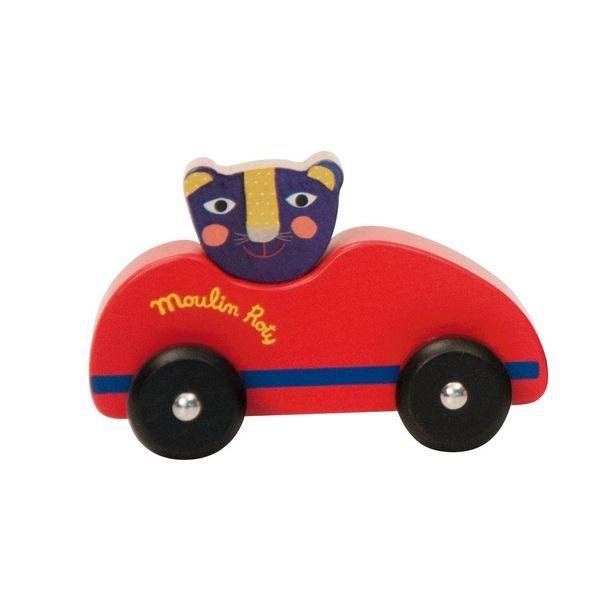 Brinquedos e Jogos : Carrinhos em madeira - Vermelho