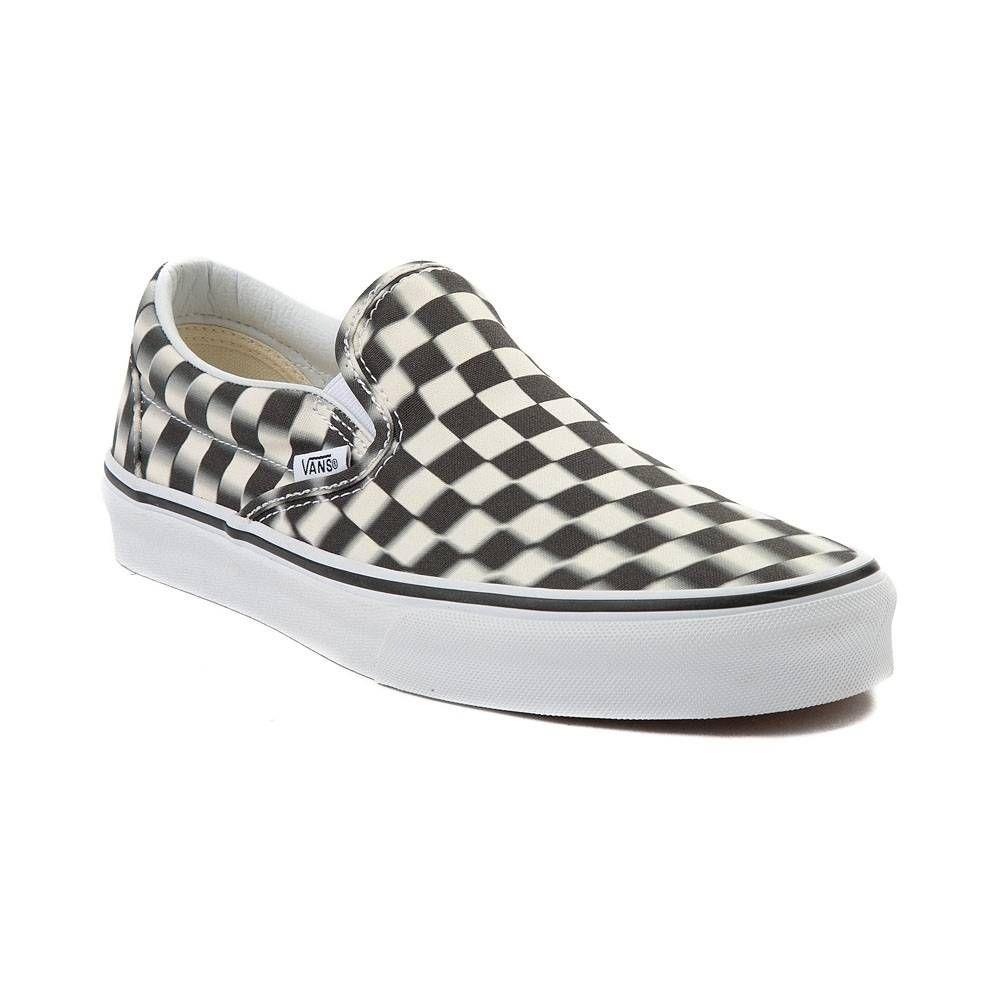 Vans Slip On Blur Chex Skate Shoe