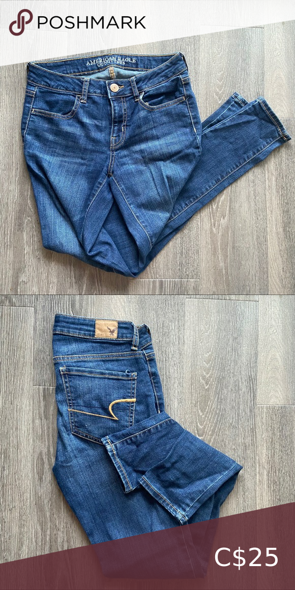American eagle blue skinny jeans