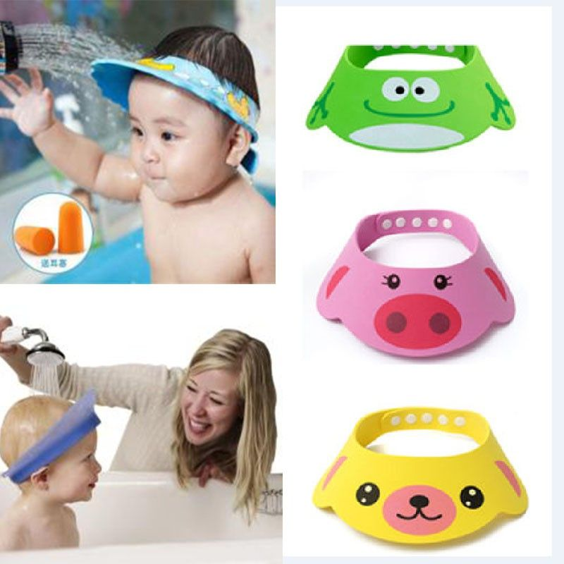 Adjustable Baby Hat Toddler Kids Shampoo Bathing Shower Cap Wash Hair Shield  Direct Visor Caps For Children Baby Care 3 Colors-in Shampoo Cap from  Mother ... 60c8af76fefc