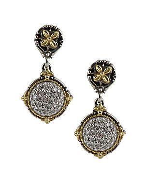 Konstantino Carved Sterling Silver Drop Earrings jjiW2