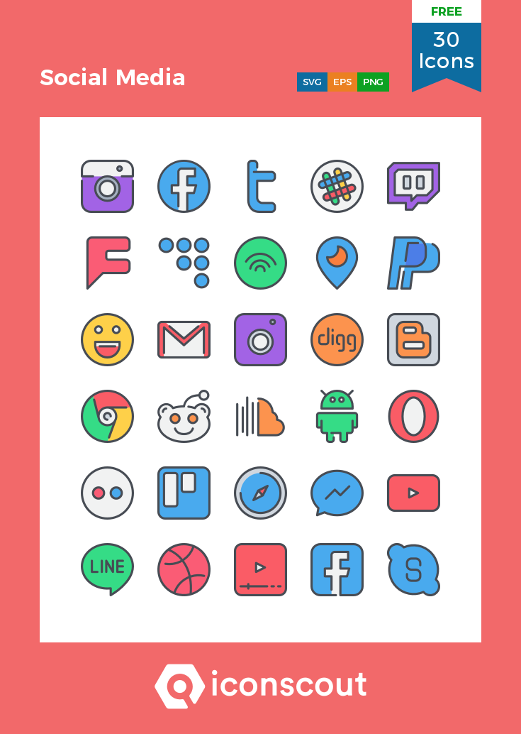 Download Social Media Icon pack Available in SVG, PNG