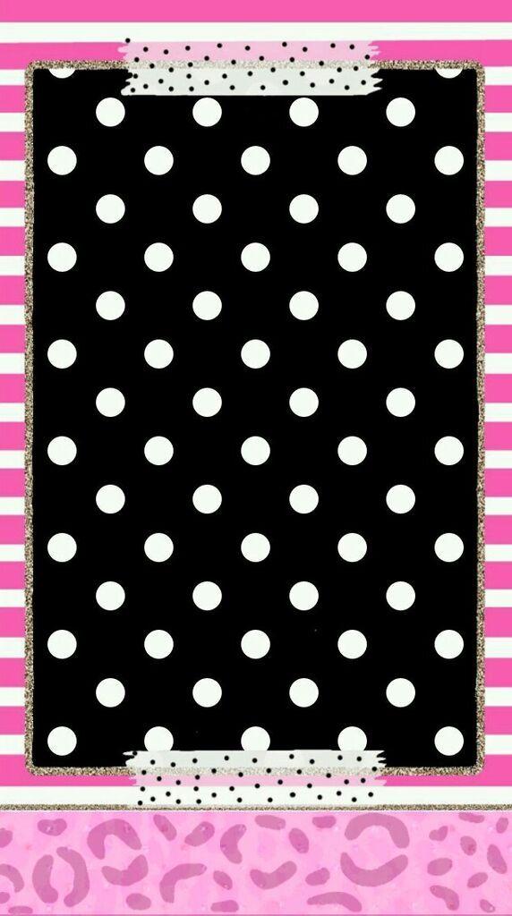 Pink Black White Girly Wallpaper Crazy Wallpaper Dots Wallpaper Polka Dots Wallpaper