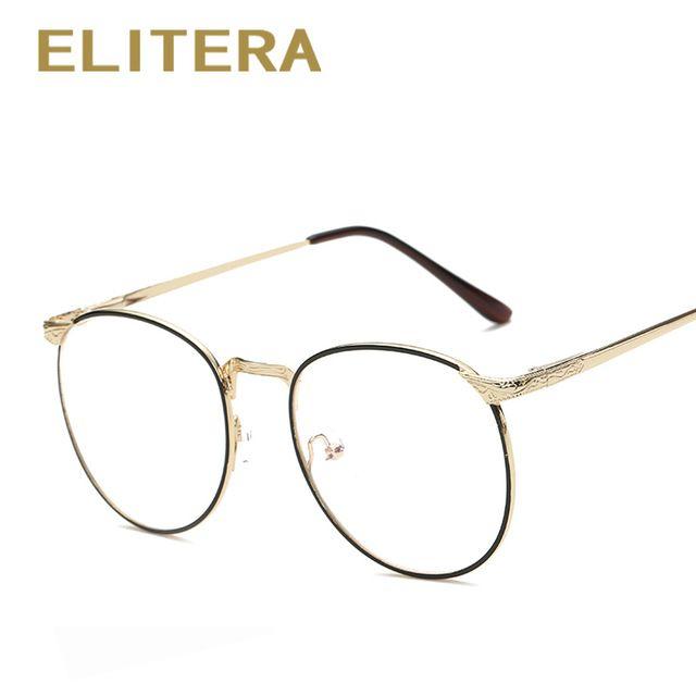 6eedc8770 Elitera 2017 novos óculos da moda óculos de miopia quadro das mulheres dos  homens do vintage óculos de armação oculos de grau femininos simples quadro  lente
