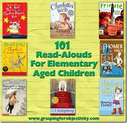 101 Read Aloud Books - This would be great for middle-schoolers too! They'd never admit it, but they like being read to as well :)