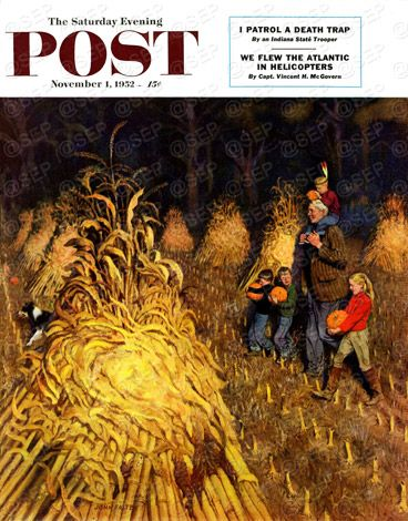 Bring Home Pumpkins by John Falter November 1, 1952