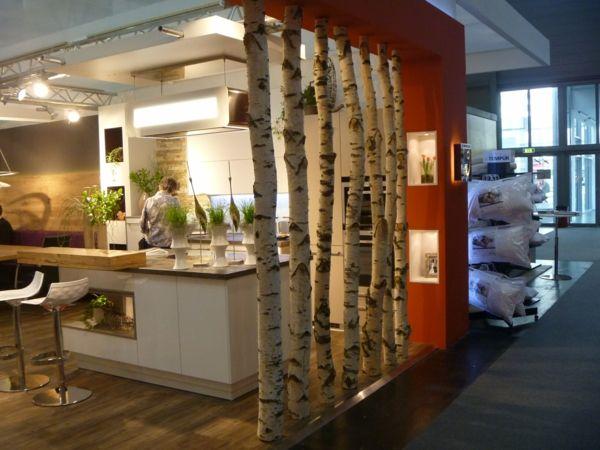 Baum Stamm Ideen Aus Holz Design Raumteiler Natur