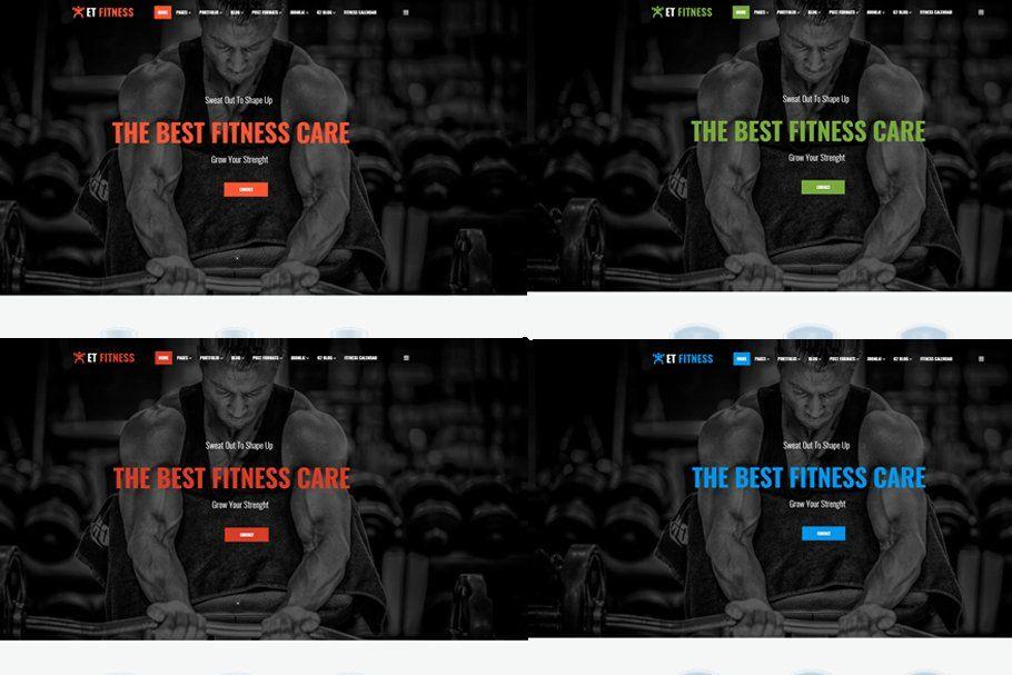 ET Fitness ¨C Gym WordPress theme Gym#theme#Fitness #AD