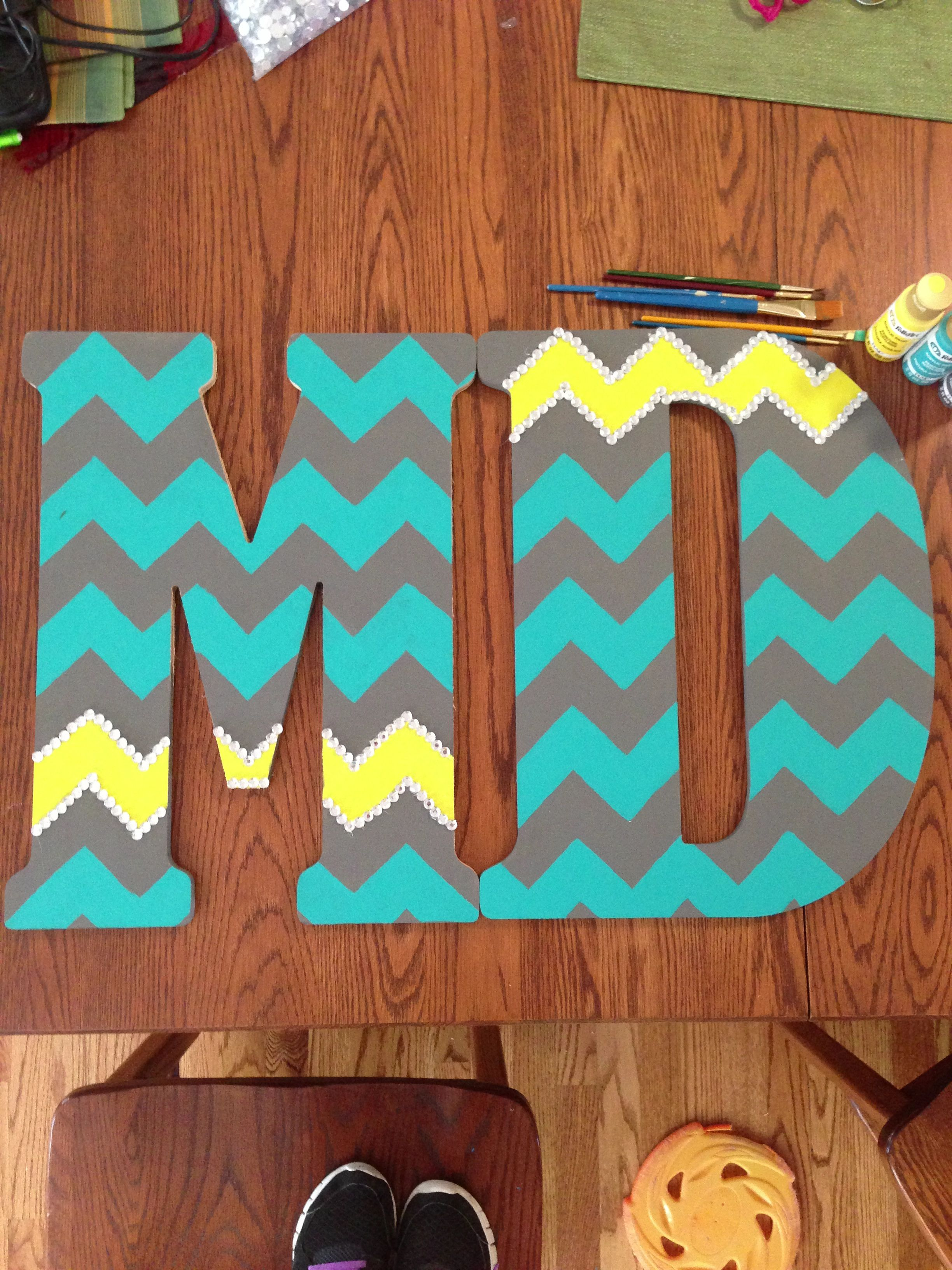dorm room chevron wooden letters everything college With chevron wooden letters