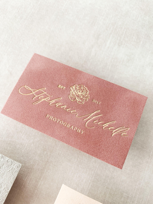 Luxury Business Cards Velvet Lettering By Grg Foil Business Cards Luxury Business Cards Gold Foil Business Cards