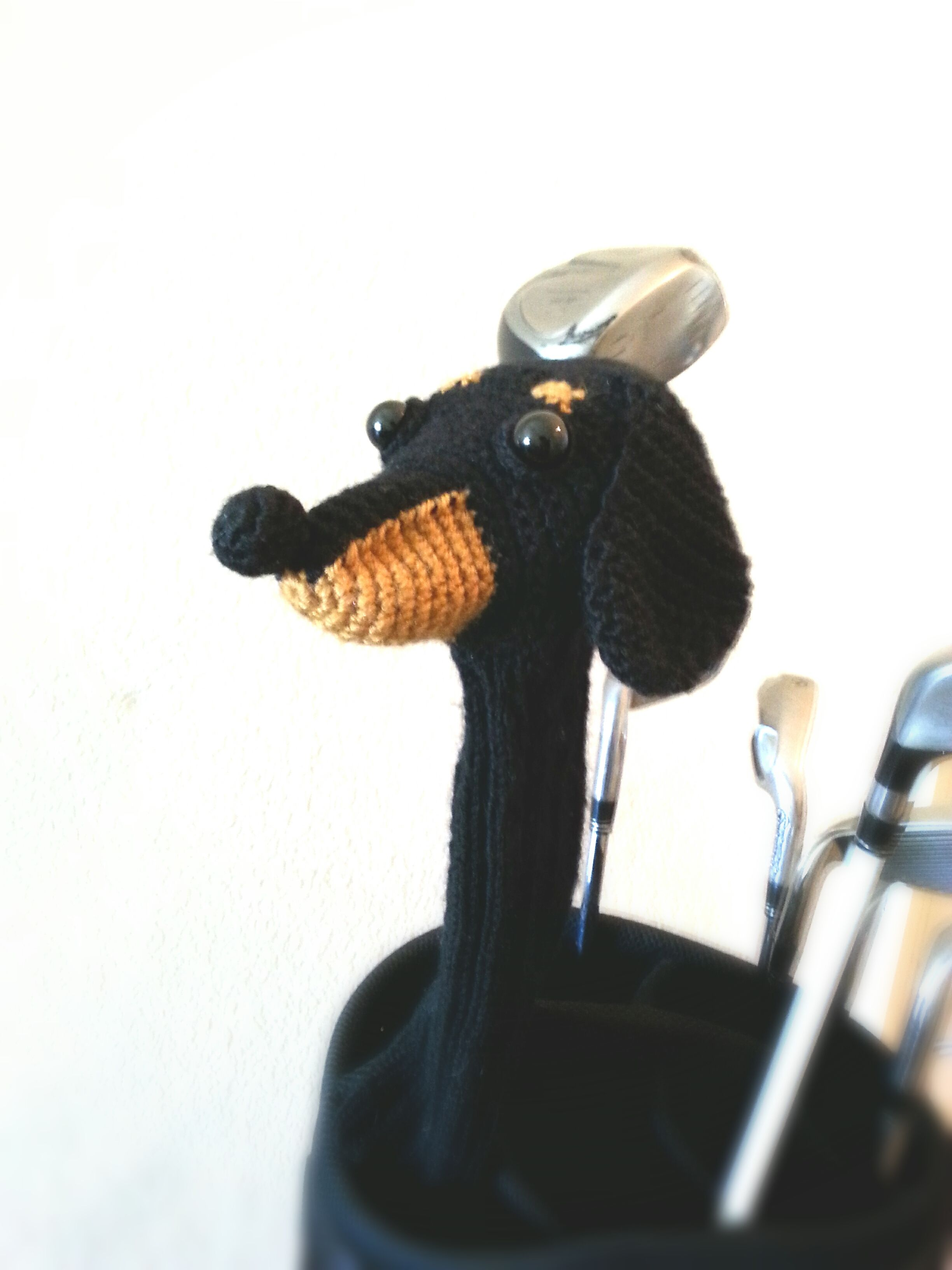 Black Dachshund Fairway Wood Golf Club Cover | Black dachshund and ...
