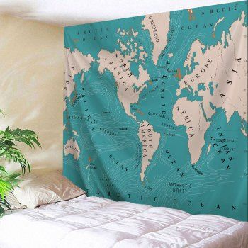 Wall hanging art world map print tapestry fabric wall art wall hanging art world map print tapestry gumiabroncs Images