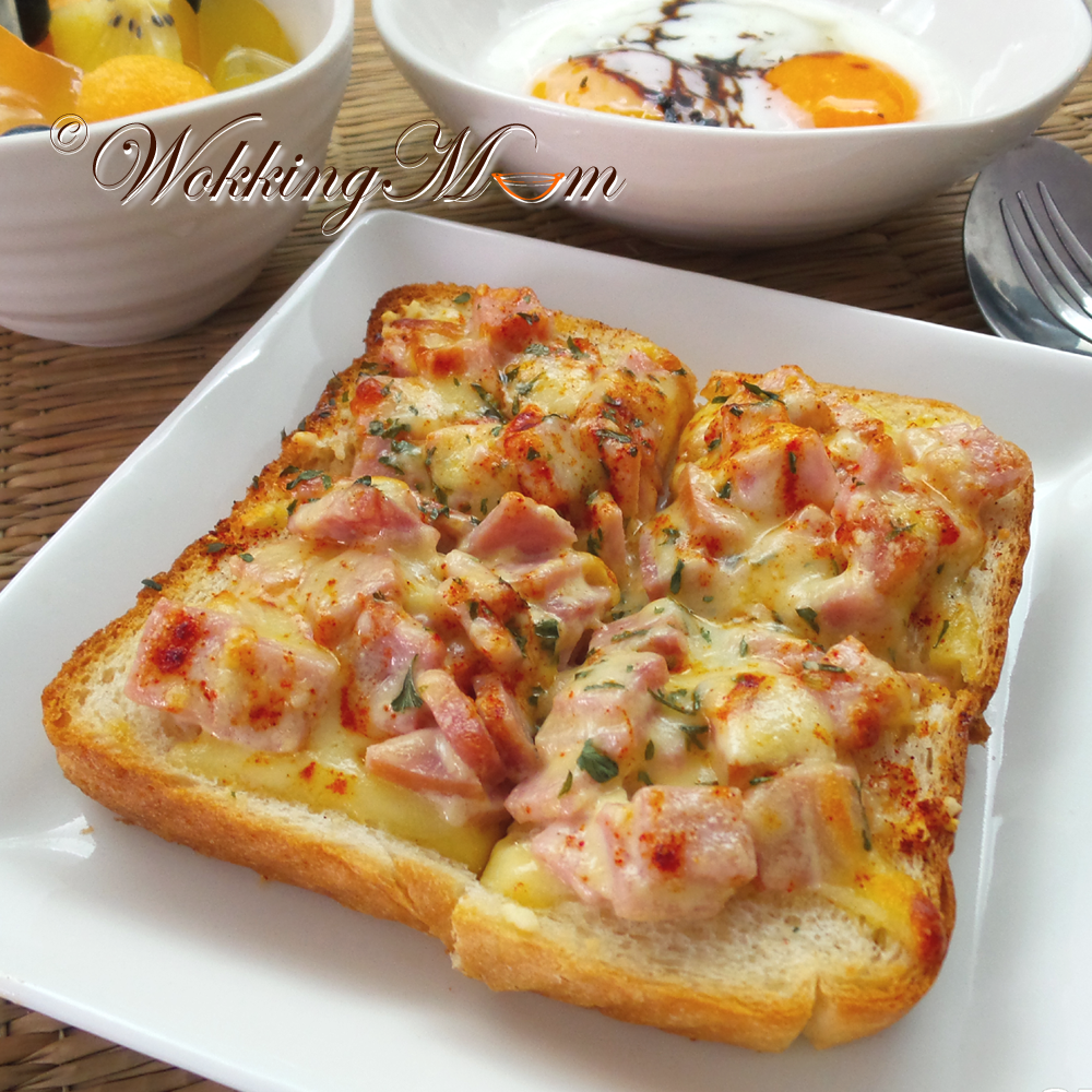Lets get wokking breakfast creamy ham cheese on thick lets get wokking breakfast creamy ham cheese on thick toast singapore foodsimple recipesdelicious forumfinder Image collections