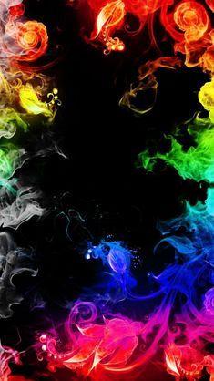 Rainbow smoke wallpaper by Samantha80 - fb - Free