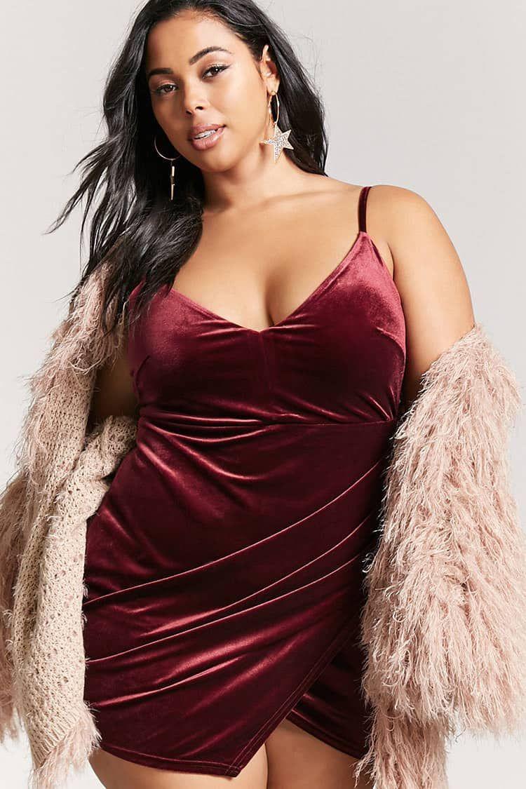 2bc1f682c39 Product Name Plus Size Velvet Tulip Dress