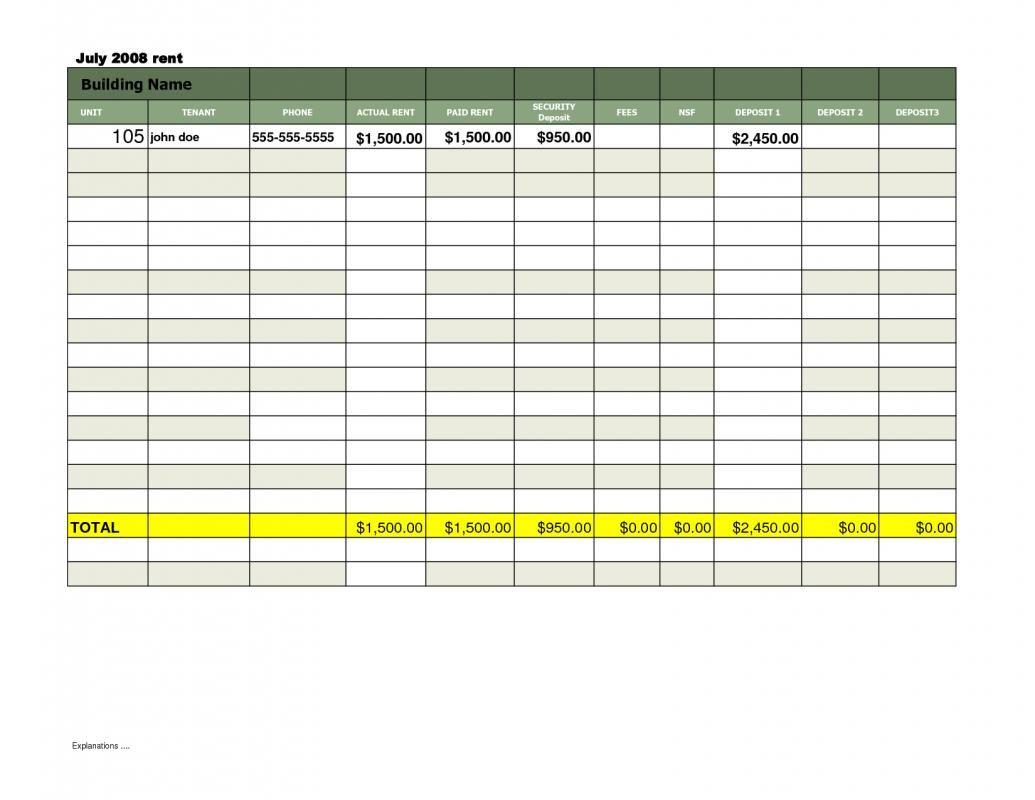 rent payment tracker spreadsheet business templates pinterest