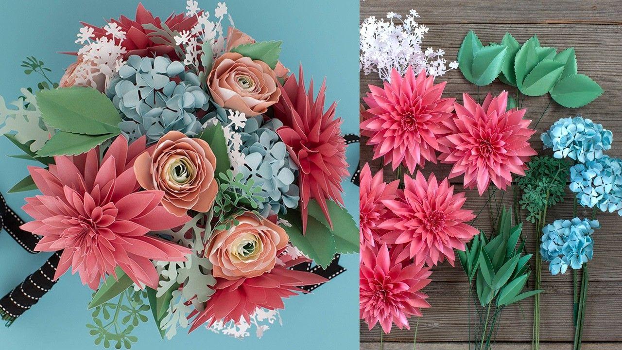 How To Make A Paper Flower Bouquet Filler Bouquet Assembly