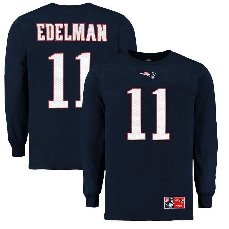 outlet store c9722 ba238 New England Patriots Majestic Julian Edelman Eligible ...