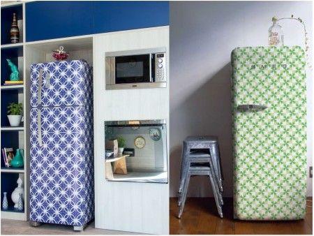 Decoraci n de cocinas con papel pintado decoraci n de - Decoracion de neveras ...