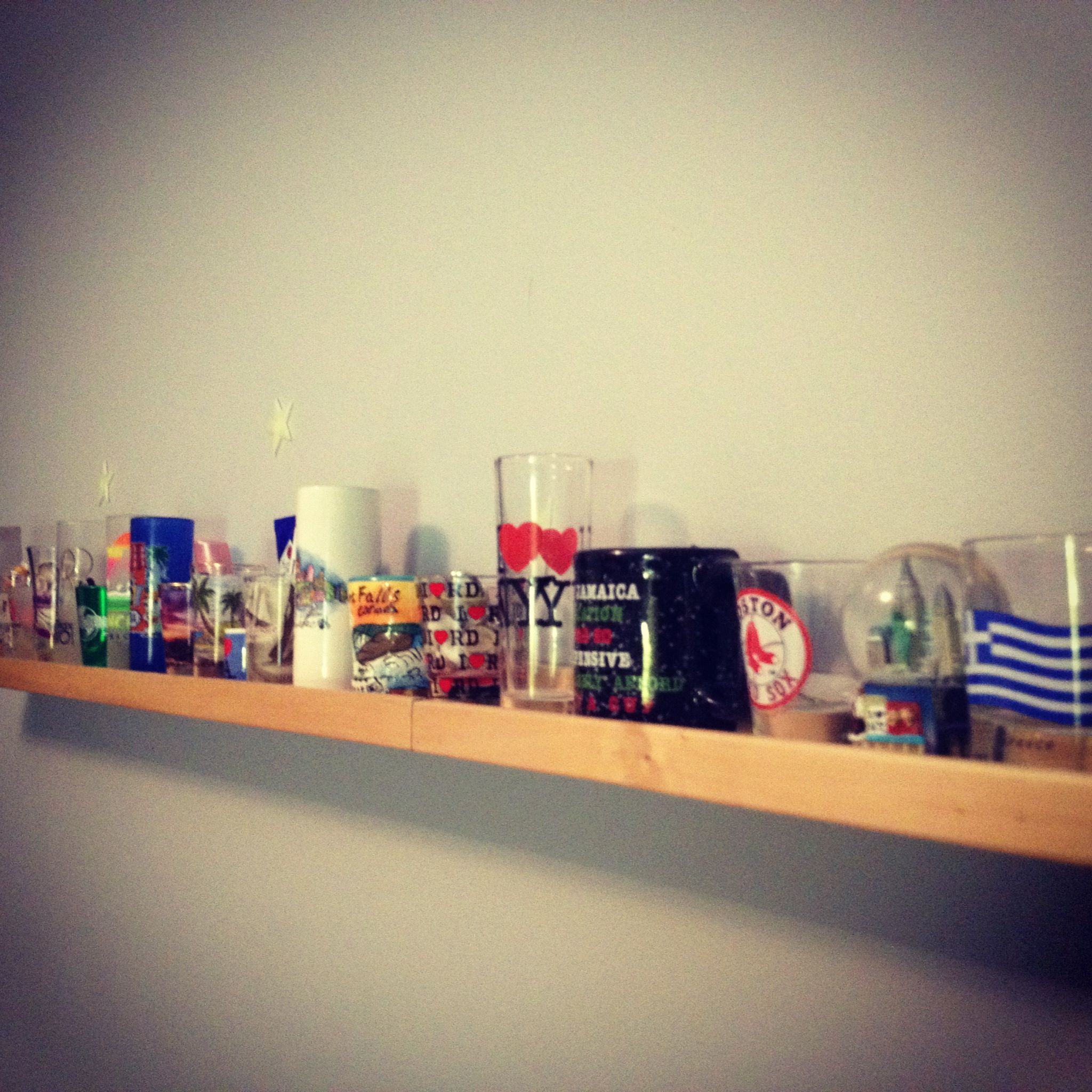 My shotglass/souvenir-from-around-the-world collection