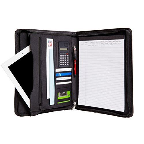 Samsill DUO 2-in-1 Organizer - 1 Inch 3 Ring Binder + 7 Pocket - resume holders