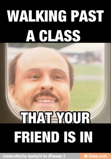 Walking past a class