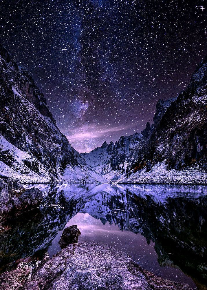 , Night falls over the Alps.. by Fabio Antenore, My Winter Blog 2020, My Winter Blog 2020