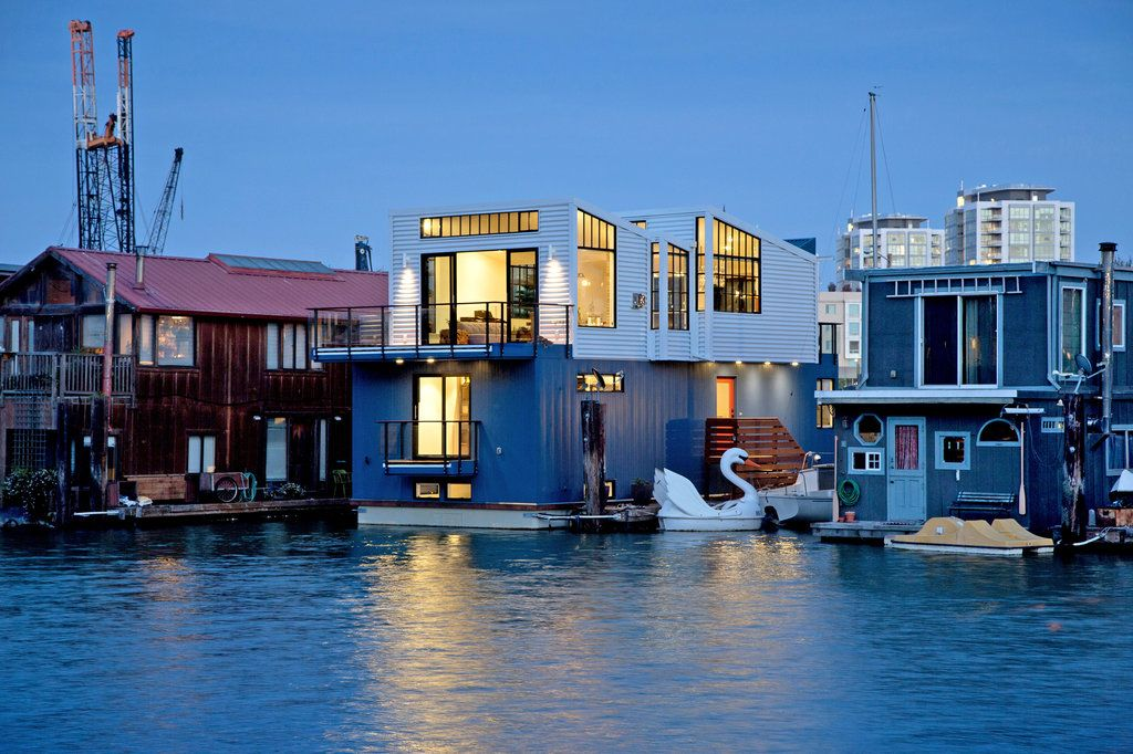 And The Best Part Is No Grass To Mow Floating House Tiny House