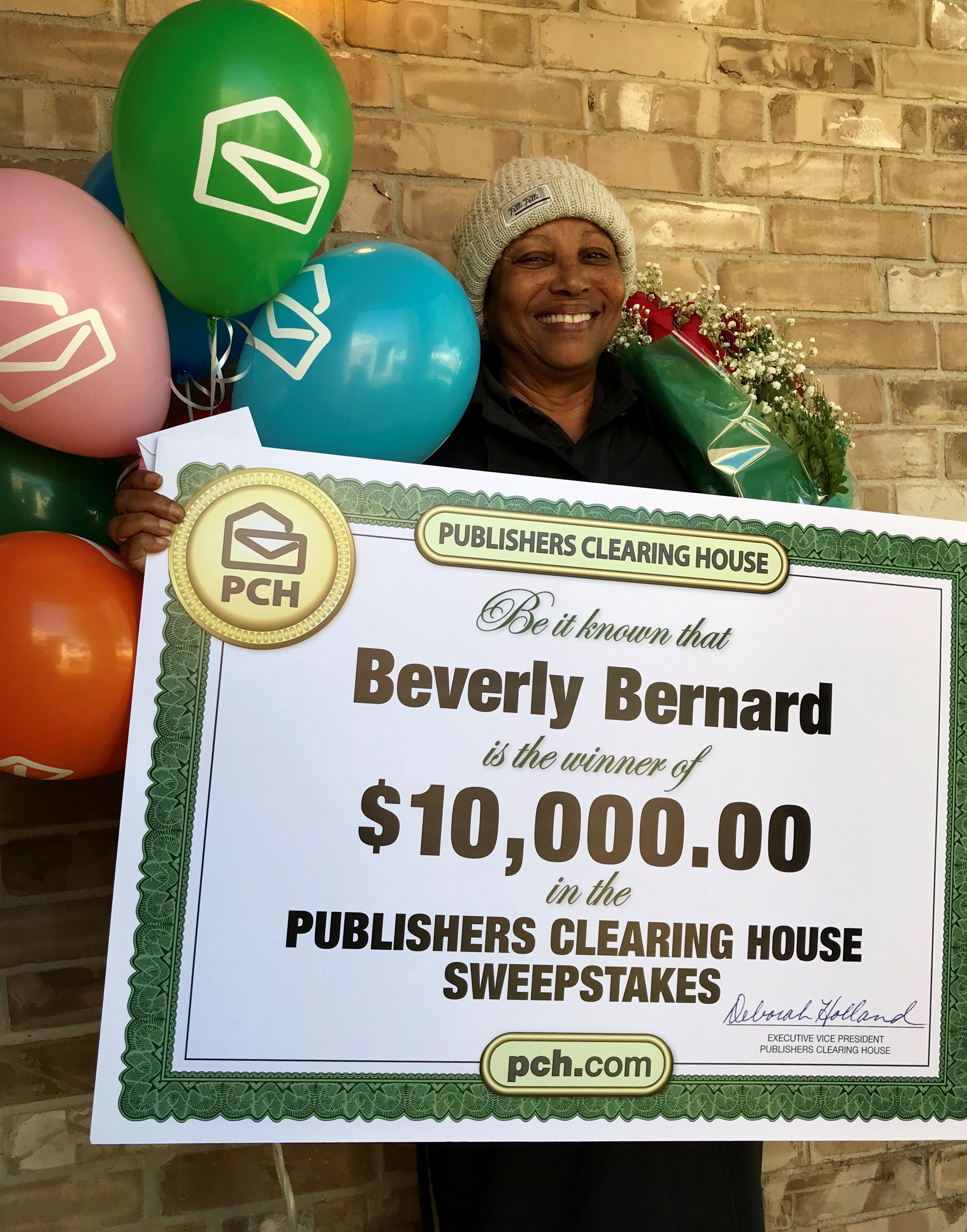 Publishers Clearing House Winners: Beverly Bernard of Houston, Texas