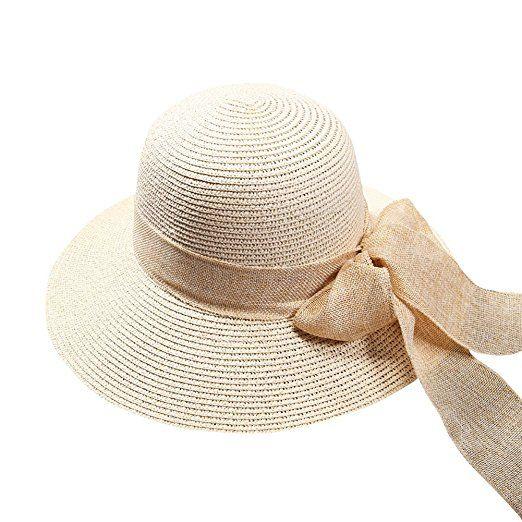 iShine Holiday Travel Women Big Bowknot Fashion Floppy Foldable Korean  Style Large Wide Beach Sun Straw 0b2d871b336b