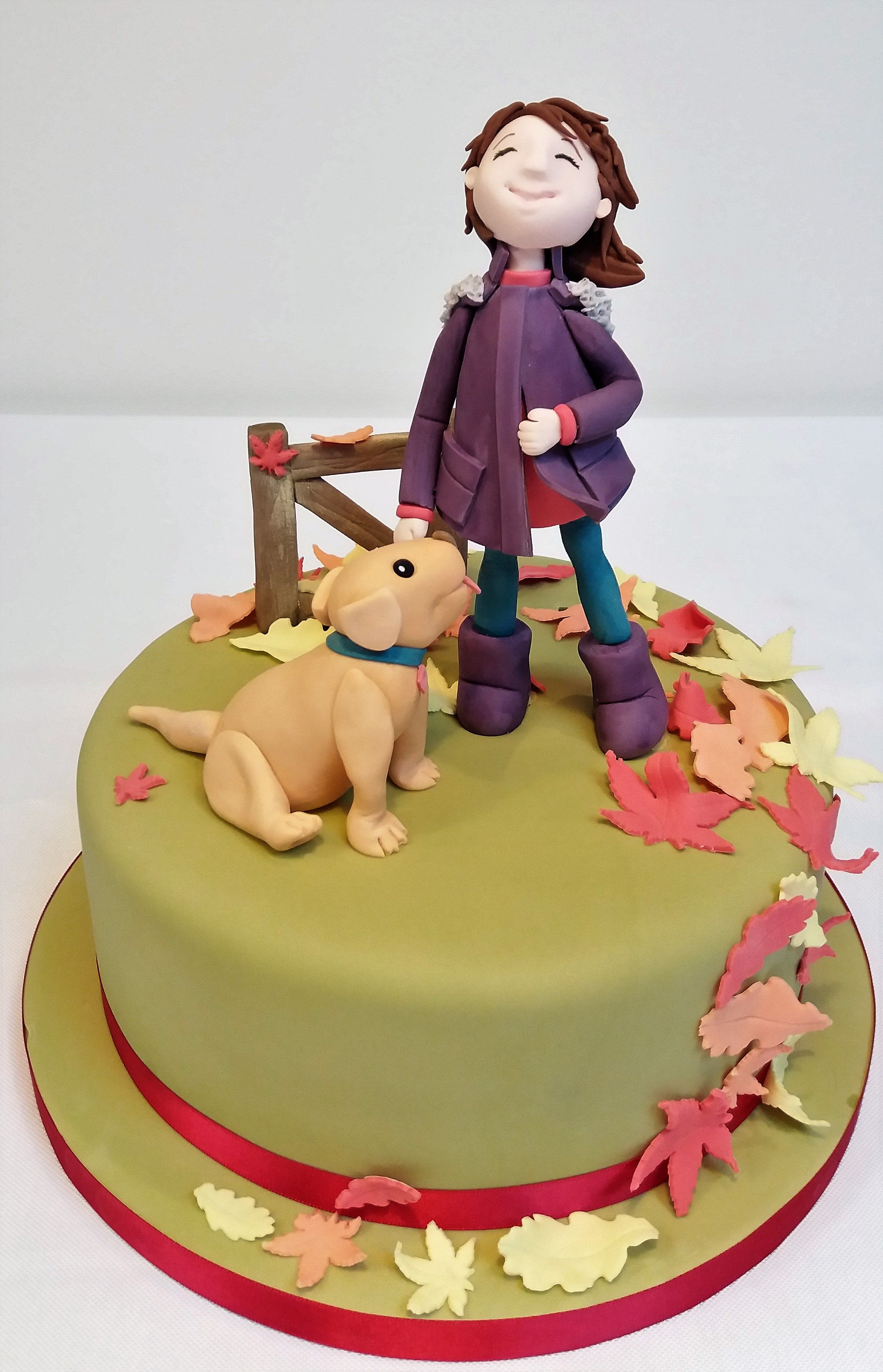 Dog Walking Birthday Cake