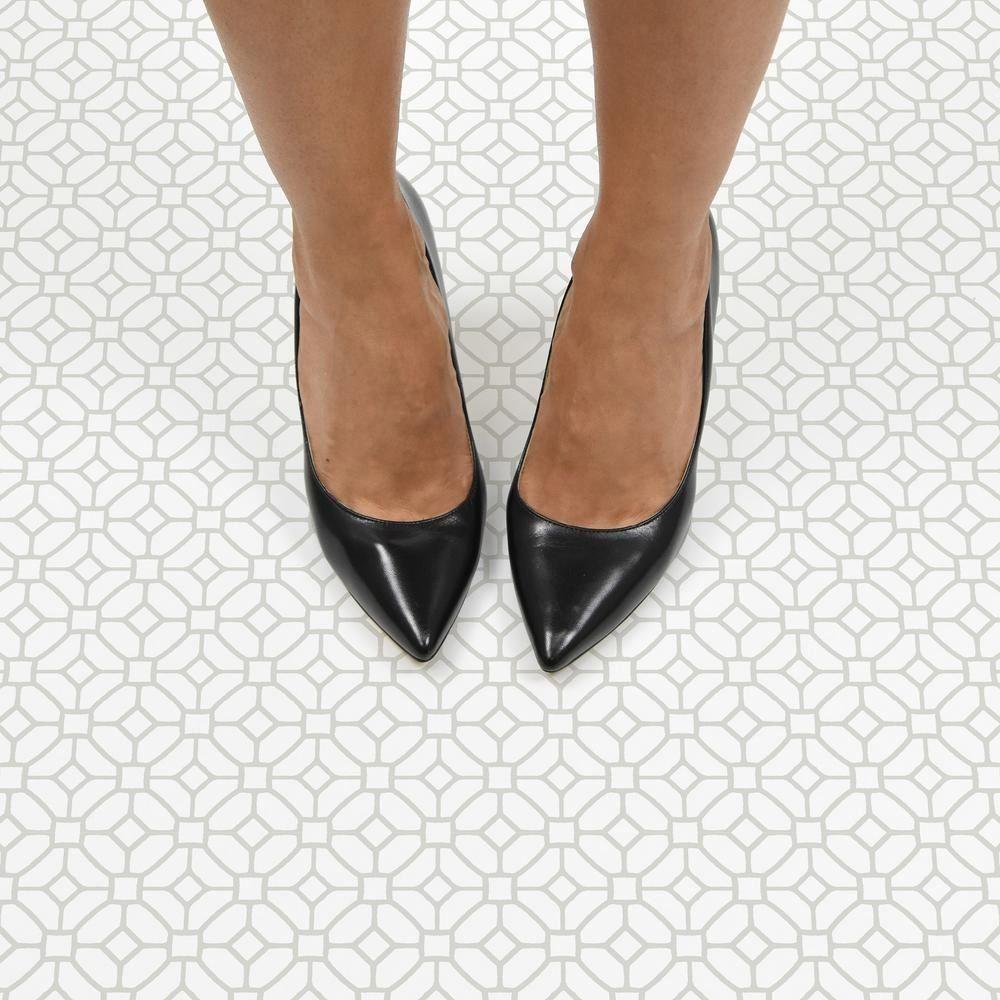 FloorPops Lattice Peel and Stick Floor Tiles 12 in. x 12 ...