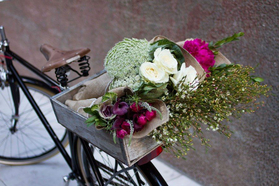 """Although you can't walk in—it's a delivery service, all by bike—Bloom That offers flowers that are fresh, gorgeous, and delivered in a burlap wrap tied with a beautiful ribbon."" —Monelle Totah, Hudson Gracebloomthat.com, 877-777-5411"