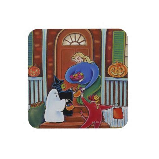 Trick Or Treat Beverage Coaster